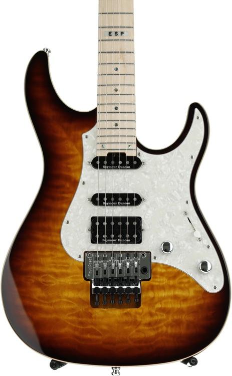 ESP E-II ST-1 Quilt Maple - Tea Sunburst image 1