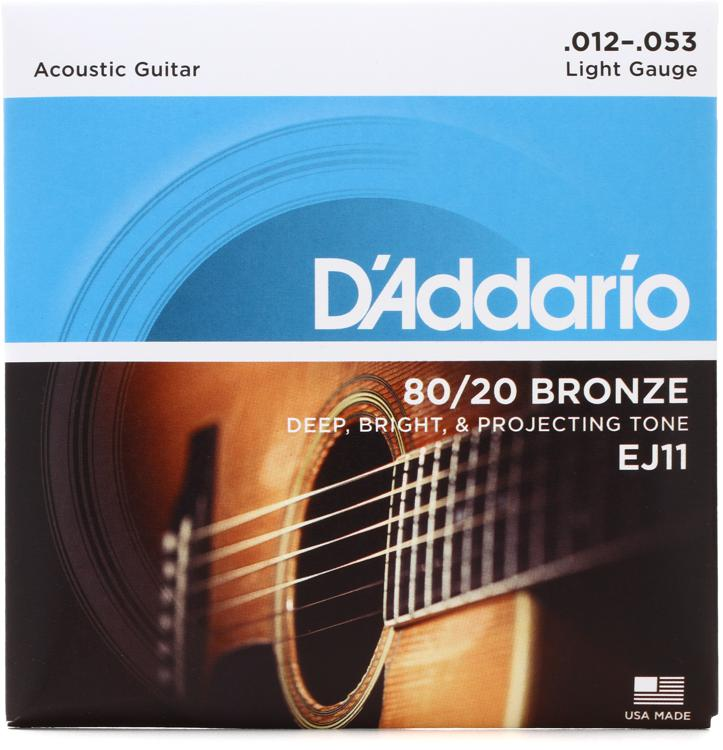 D\'Addario EJ11 80/20 Bronze Light Acoustic Strings image 1