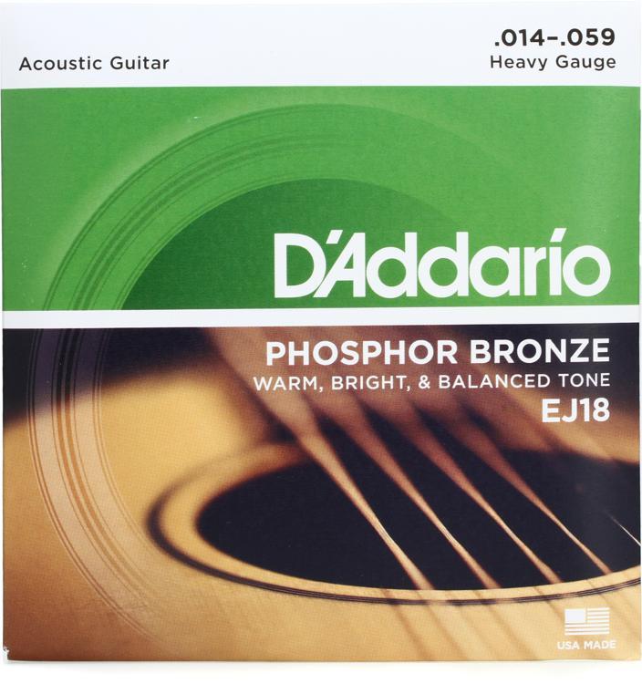 D\'Addario EJ18 Phosphor Bronze Heavy Acoustic Strings image 1