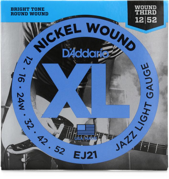 D\'Addario EJ21 Nickel Wound Jazz Light (wound 3rd) Electric Strings image 1