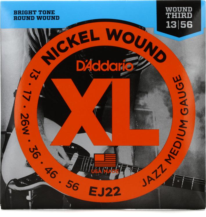 D\'Addario EJ22 Nickel Wound Jazz Medium (wound 3rd) Electric Strings image 1