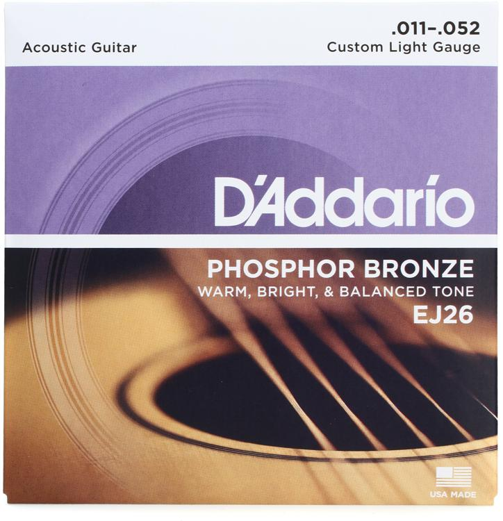 D\'Addario EJ26 Phosphor Bronze Custom Light Acoustic Strings image 1