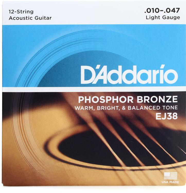 D\'Addario EJ38 Phosphor Bronze Light 12-String Acoustic Strings image 1