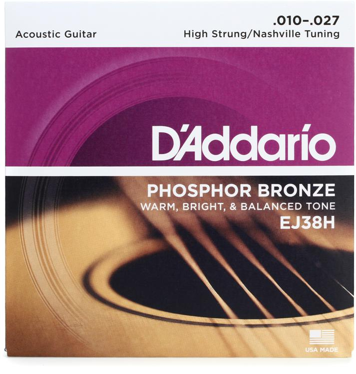 D\'Addario EJ38H Phosphor Bronze High Strung Nashville Acoustic Strings image 1