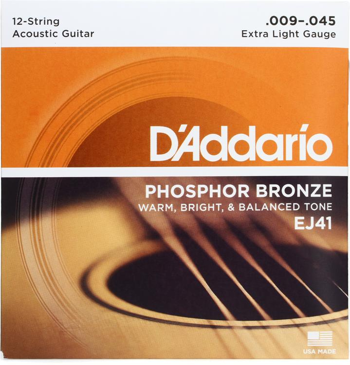 D\'Addario EJ41 Phosphor Bronze Extra Light 12-String Acoustic Strings image 1