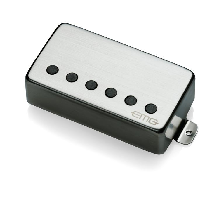 EMG 57 MetalWorks Active Alnico V Humbucker Guitar Pickup Brushed Steel image 1