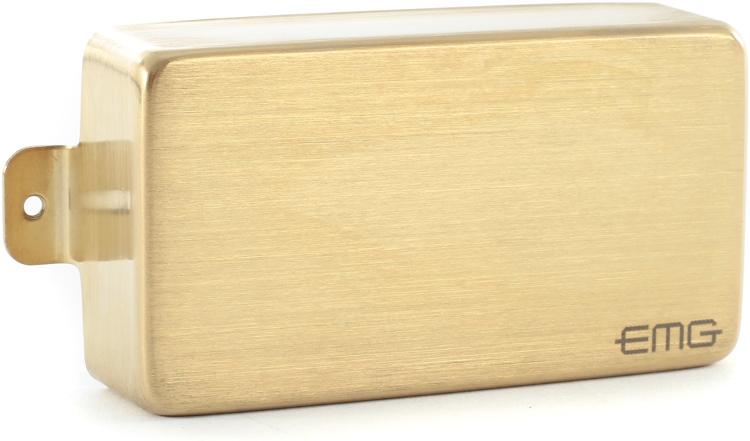 EMG 60 MetalWorks Active Ceramic Humbucker Guitar Pickup Brushed Gold image 1