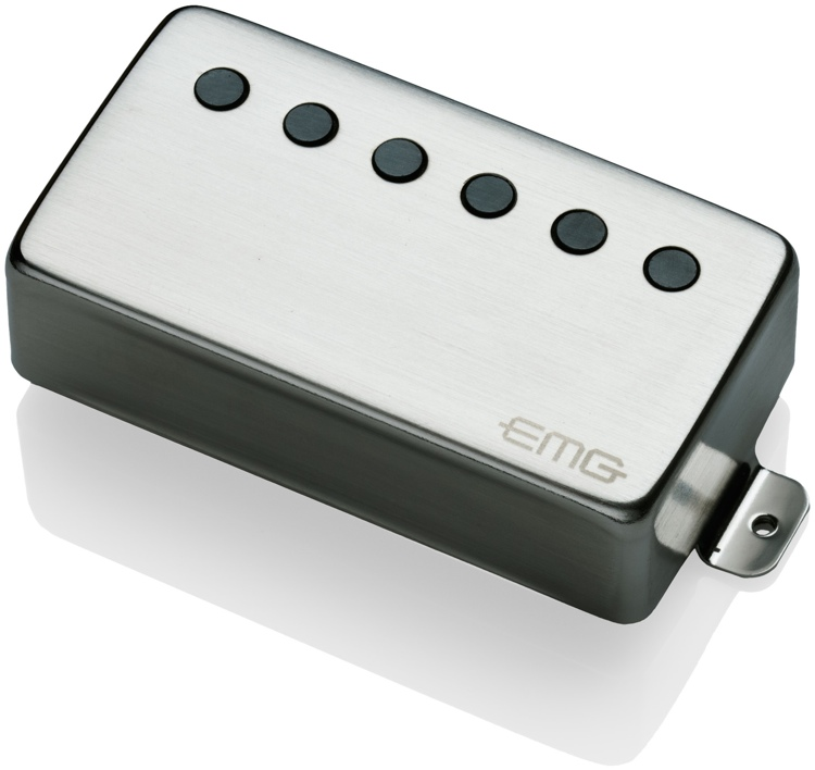 EMG 66 MetalWorks Active Alnico V Humbucker Guitar Pickup Brushed Steel image 1