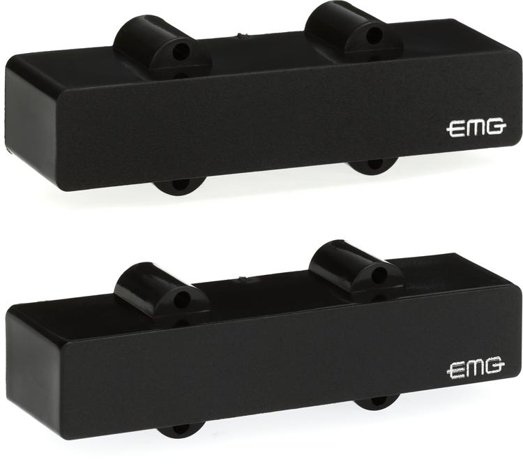 EMG J Set Active Ceramic J-Bass Pickup Set Black image 1