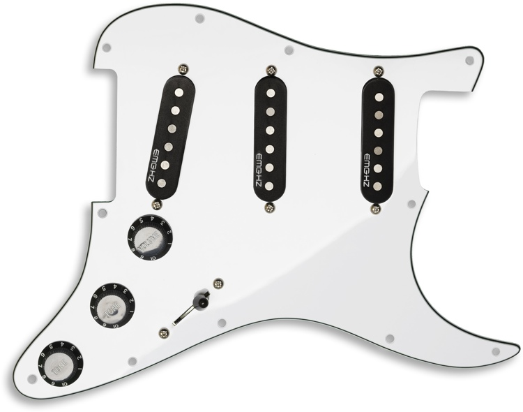 EMG ST11 Strat Style Pre-Wired Pickguard S/S/S White image 1