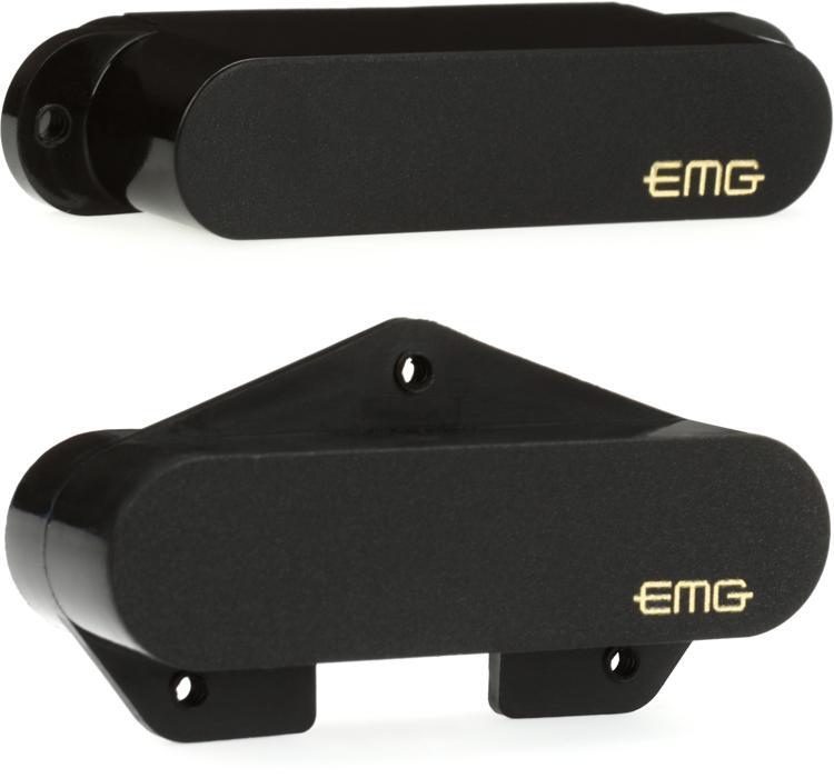 EMG T Set Active Alnico Telecaster Pickup Set Black image 1