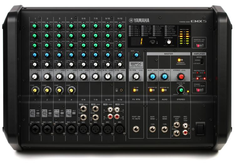 Yamaha EMX5 12-channel 1260W Powered Mixer image 1