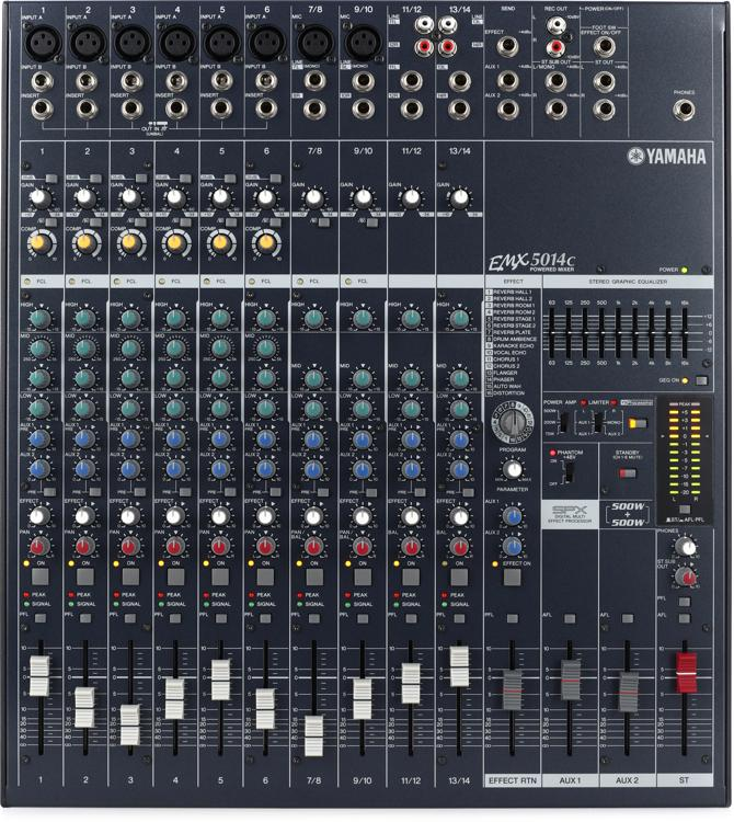 Yamaha EMX5014C 14-channel 1000W Powered Mixer image 1
