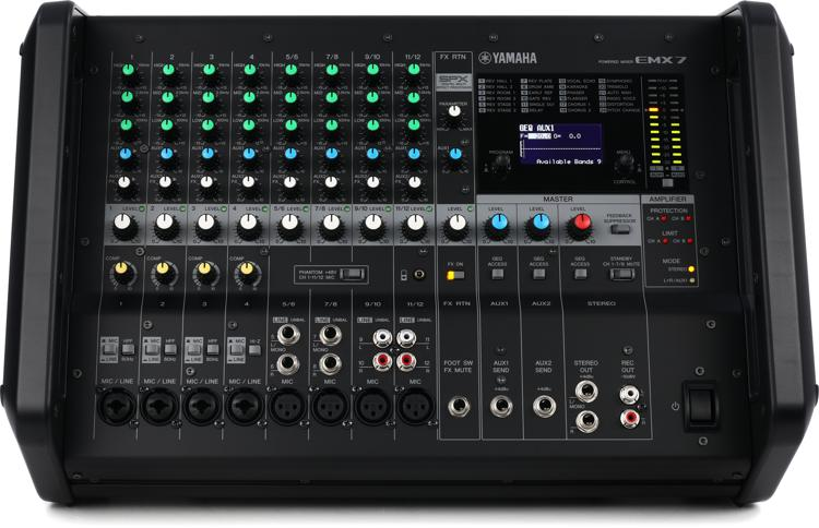 yamaha emx7 12 channel 1420w powered mixer sweetwater. Black Bedroom Furniture Sets. Home Design Ideas