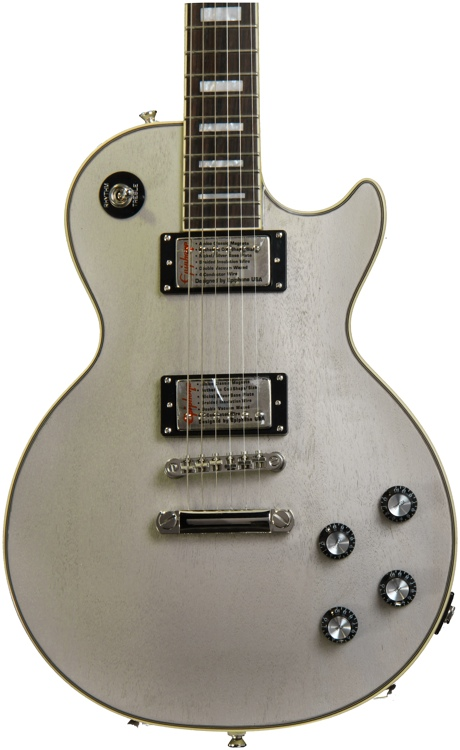 Epiphone Ltd. Ed. Silver Series Les Paul Custom PRO - TV Silver image 1