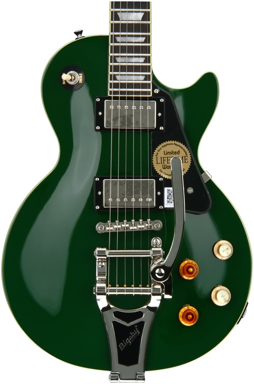 epiphone joe bonamassa les paul standard with bigsby outfit inverness green sweetwater. Black Bedroom Furniture Sets. Home Design Ideas