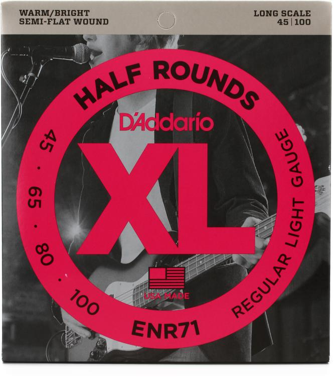 D\'Addario ENR71 XL Half Round Semi-Flat Wound Long Scale Bass Strings image 1