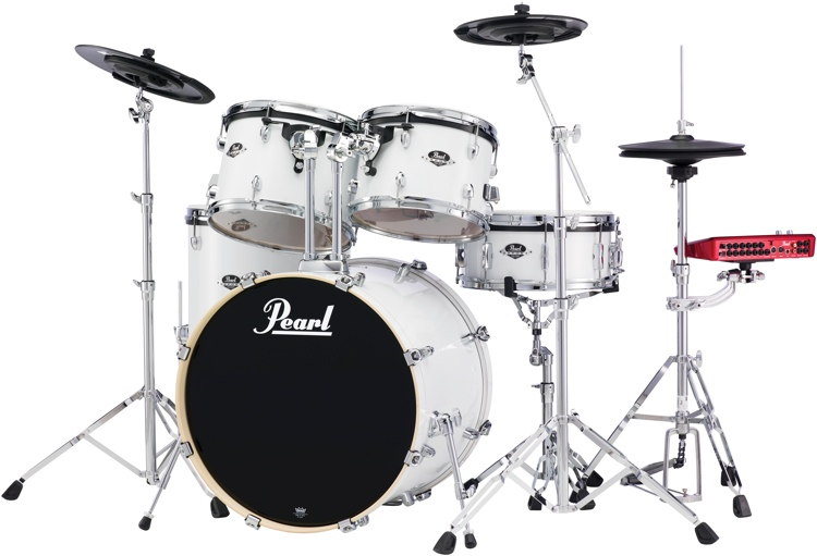 Pearl E-Pro Powered by Export 5-pc Electronic Drum Set Standard - Pure White image 1