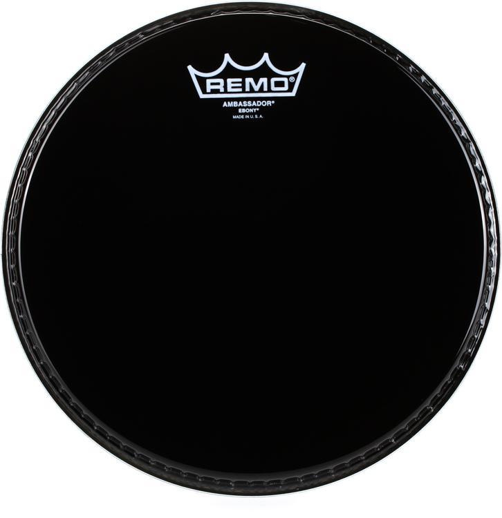 Remo Ebony Ambassador Drum Head - 10