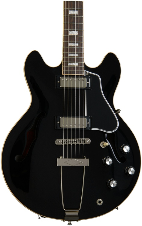Gibson Memphis ES-390 - Ebony Vintage Gloss image 1