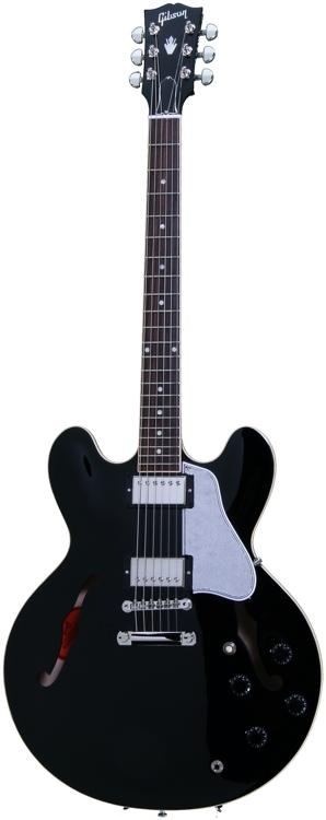 Gibson Memphis ES-335 Dot Plaintop - Ebony image 1