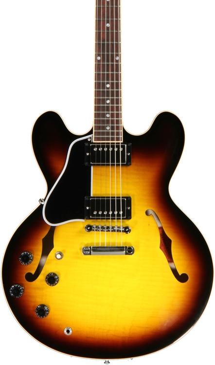 Gibson Memphis ES-335 Dot Left Hand - Vintage Sunburst Left Hand image 1
