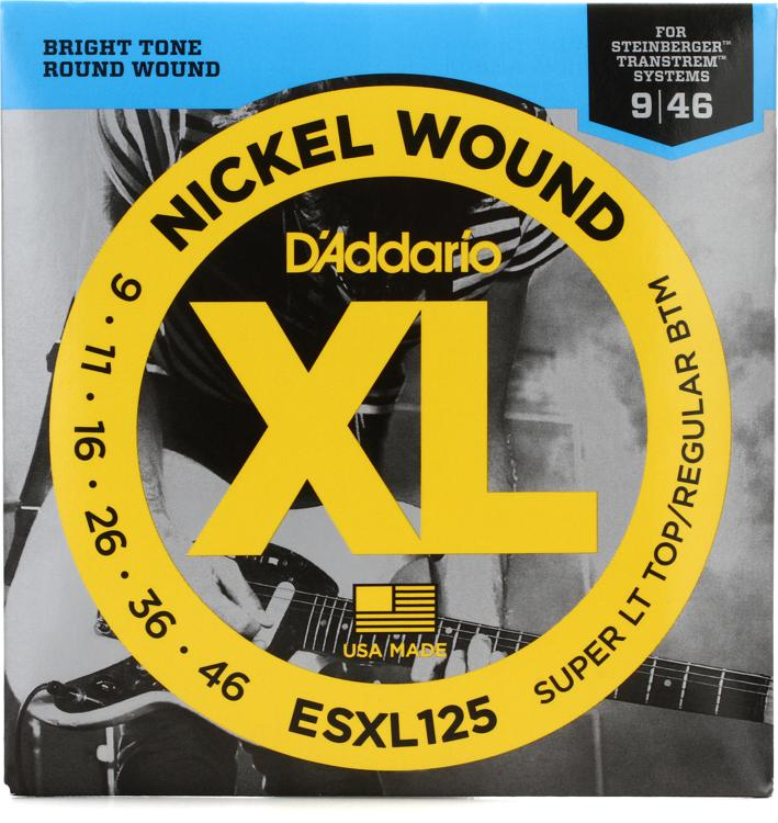 D\'Addario ESXL125 Nickel Wound Double Ball End Ex Light Top/Reg Bottom Electric Strings image 1
