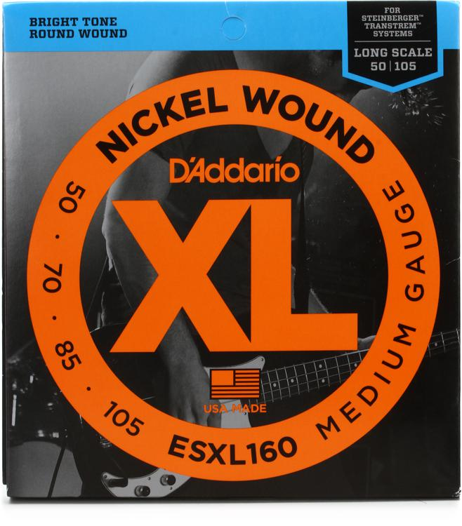D\'Addario ESXL160 Double Ball Nickel Wound Long Scale Medium Bass Strings image 1