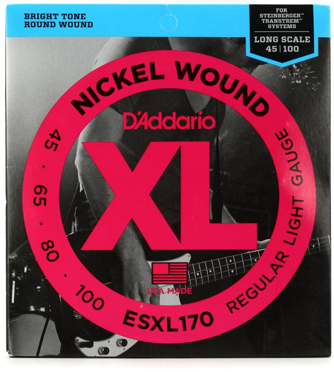 D\'Addario ESXL170 Double Ball Nickel Wound Long Scale Light Bass Strings image 1