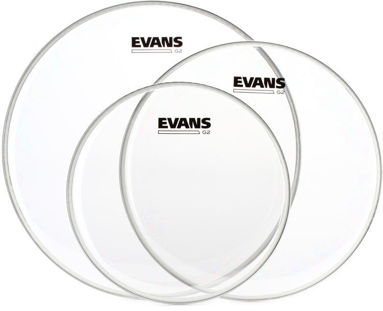evans g2 tom pack 10 12 14 clear sweetwater. Black Bedroom Furniture Sets. Home Design Ideas