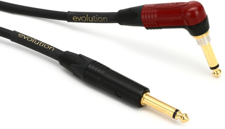 Pro Co 10\' Evolution Silent Guitar Cable - Angled/Straight image 1