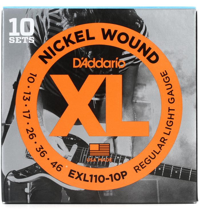 D\'Addario EXL110 Nickel Wound Light Electric Strings 10-Pk image 1