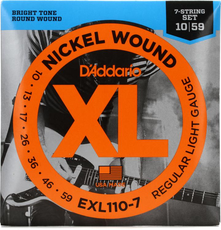 D\'Addario EXL110-7 Nickel Wound Light 7-String Electric Strings image 1