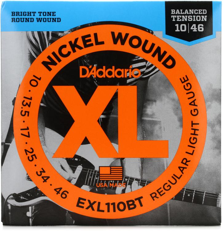 d 39 addario exl110bt balanced tension nickel wound light electric strings sweetwater. Black Bedroom Furniture Sets. Home Design Ideas