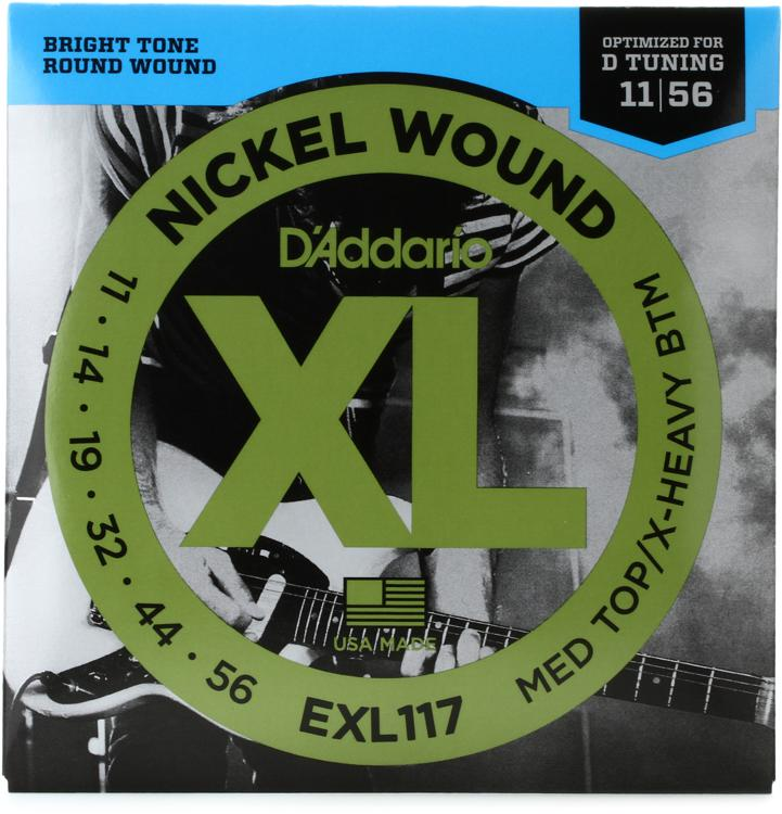 D\'Addario EXL117 Nickel Wound Medium Top/Extra-Heavy Bottom Electric Strings image 1