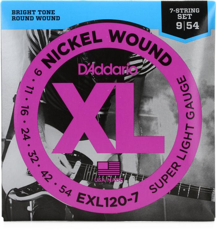 D\'Addario EXL120-7 Nickel Wound Super Light 7-String Electric Strings image 1