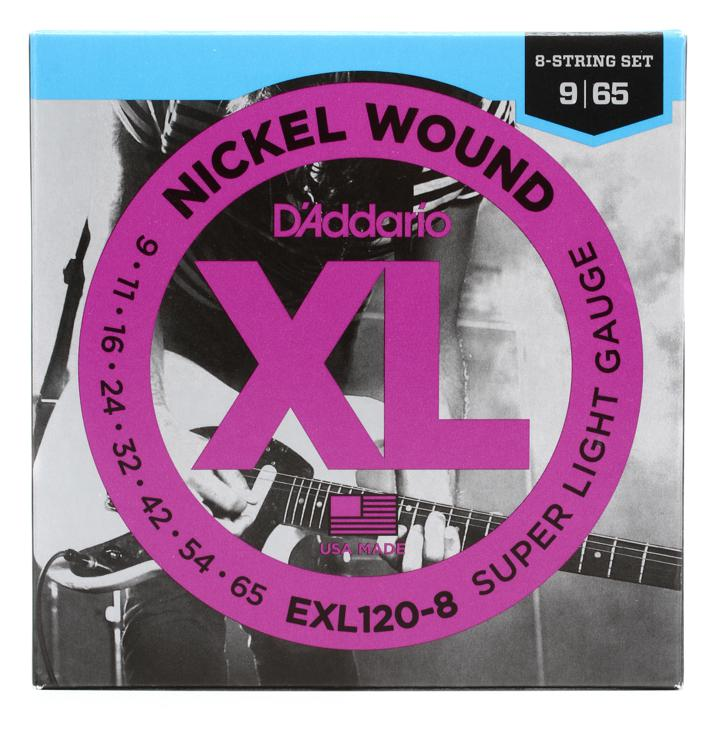 D\'Addario EXL120-8 Nickel Wound Super Light 8-String Electric Strings image 1