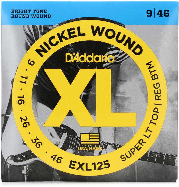 D\'Addario EXL125 Nickel Wound Super Light Top/Regular Bottom Electric Strings image 1