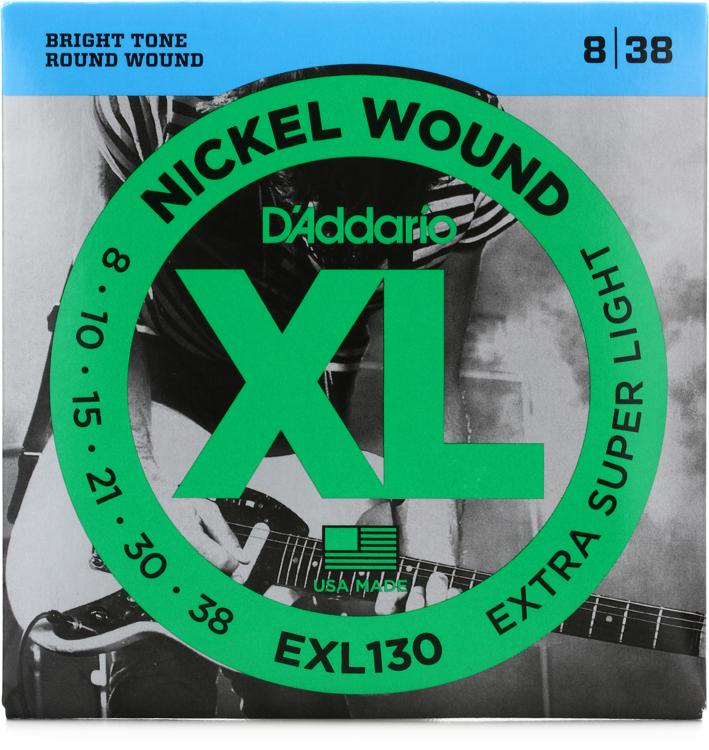D\'Addario XL130 Nickel Wound Extra Super Light Electric Strings image 1
