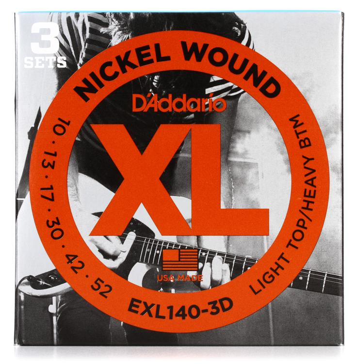D\'Addario EXL140-3D Nickel Wound Light Top/Heavy Bottom Electric Strings 3-Pk image 1