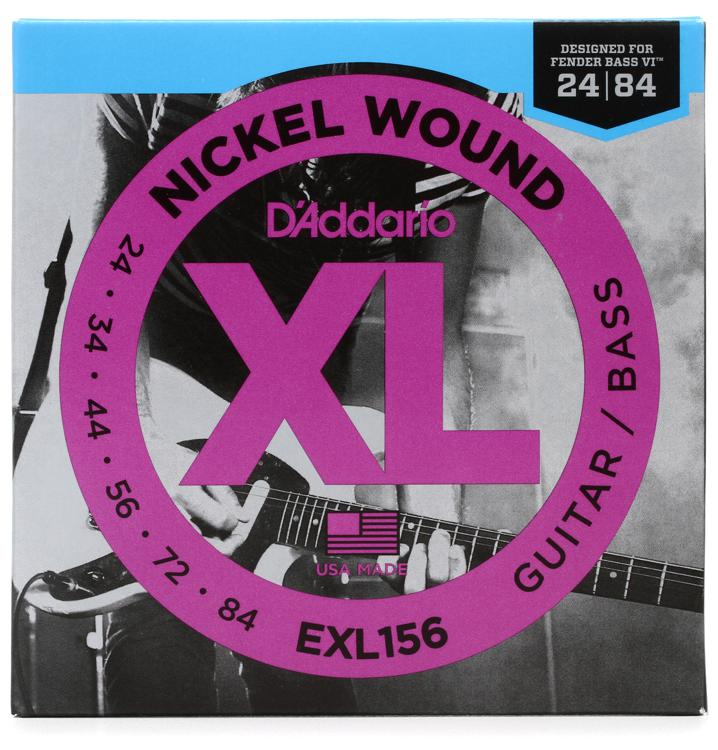 D\'Addario EXL156 Nickel Wound Bass VI Stings image 1