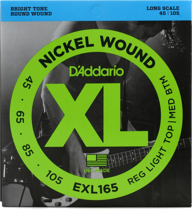 D\'Addario EXL165 Nickel Wound Long Scale Light Top Medium Bottom Bass Strings image 1