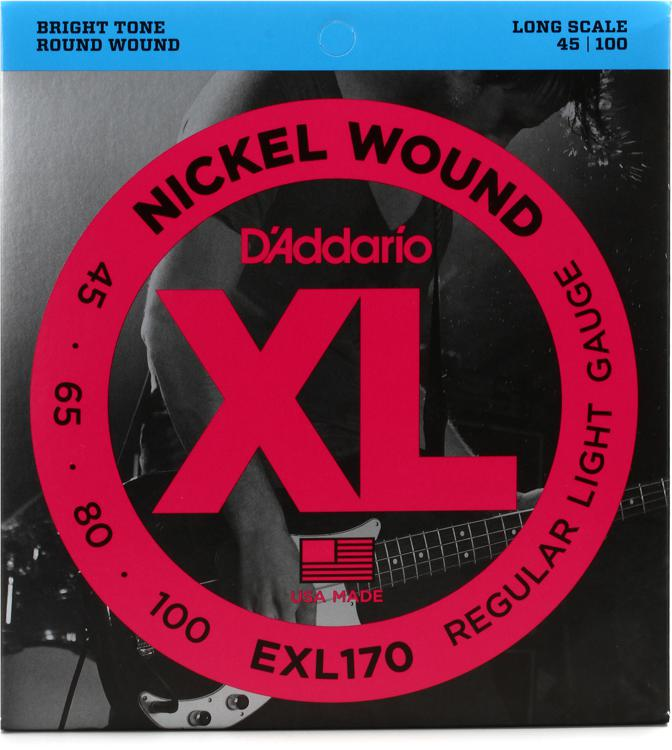 D\'Addario EXL170 Nickel Wound Long Scale Light Bass Strings image 1