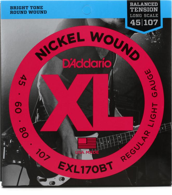 D\'Addario EXL170BT Balanced Tension Nickel Wound Light Bass Strings image 1