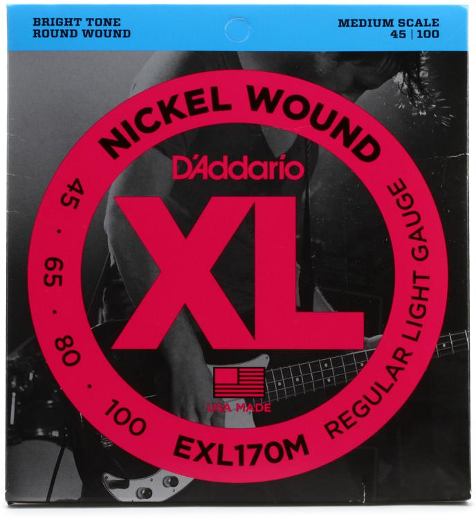 D\'Addario EXL170M Nickel Wound Medium Scale Medium Bass Strings image 1