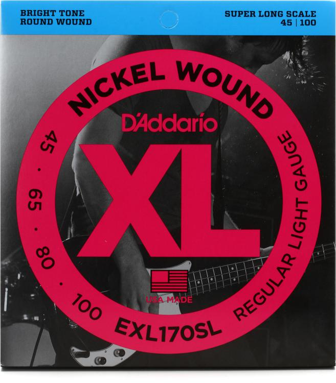 D\'Addario EXL170SL Nickel Wound Super Long Scale Light Top/Medium Bottom Bass Strings image 1
