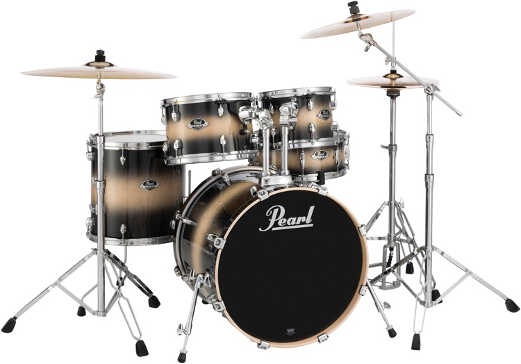 Pearl Export EXL 5-piece Shell Pack with Snare Drum - Nightshade image 1