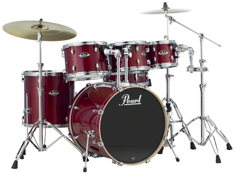 Pearl Export EXL 6-piece Drum Set with Hardware - Natural Cherry image 1
