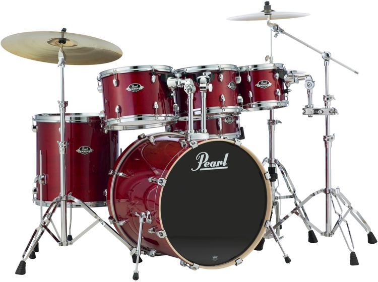 Pearl Export EXL 6-piece Shell Pack with Snare Drum - Natural Cherry image 1