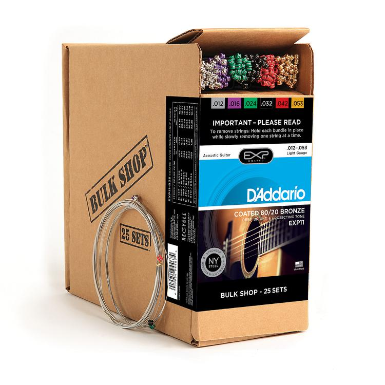 D\'Addario EXP11 Coated 80/20 Bronze Light Acoustic Strings 25-pack image 1